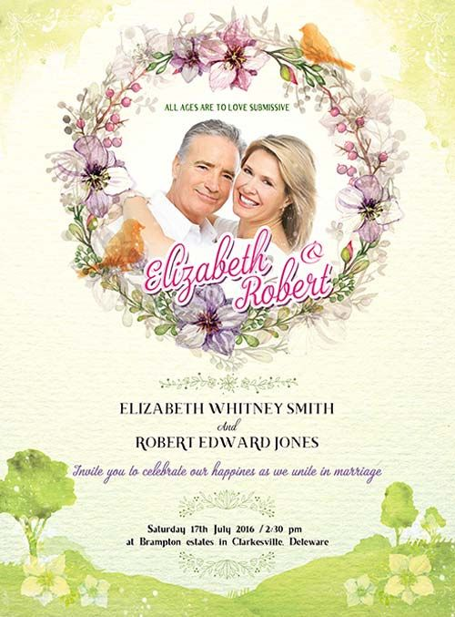 Wedding Invitation Free PSD Flyer Template -    freepsdflyer - invitation flyer template