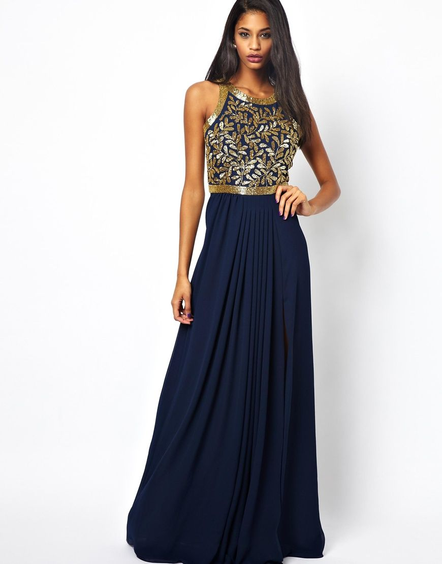 Virgos Lounge Kelly Embellished Maxi Dress with Open Back  Inspo ...