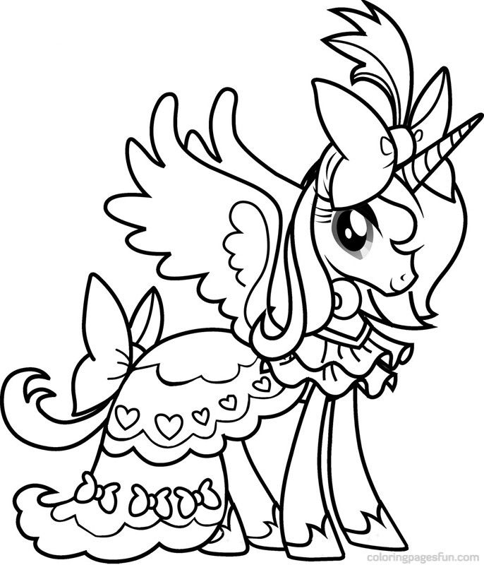 Princess Luna Coloring Page My Little Pony Coloring Unicorn