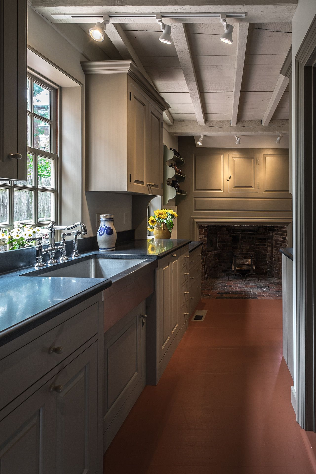 Best Holman House Colonial Kitchen Rustic Kitchen Home Kitchens 400 x 300