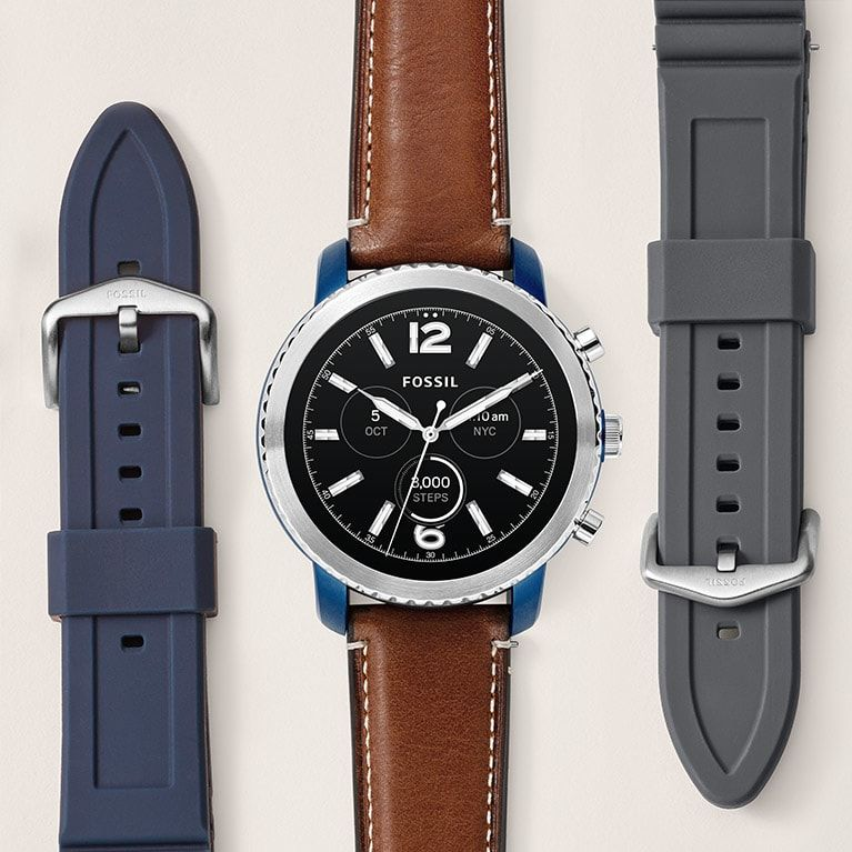 Gen 3 Smartwatch Explorist Luggage Leather Leather Navy Leather Leather Luggage