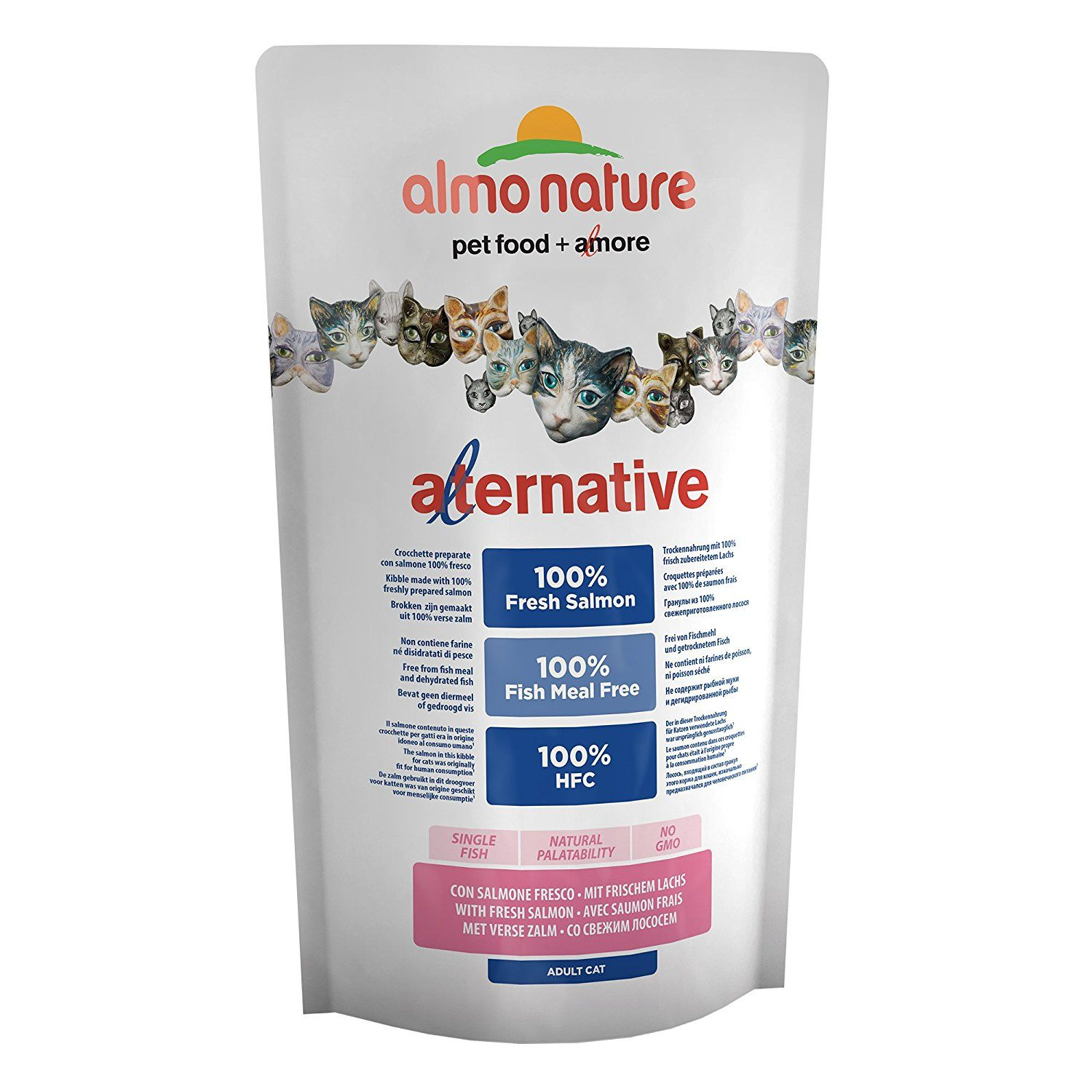 Almo Nature New Alternative Cat Kibble 100 Fresh Salmon 2 X 750g Pack Click Image To Read More Details Catfood Almo Food Animals Fresca