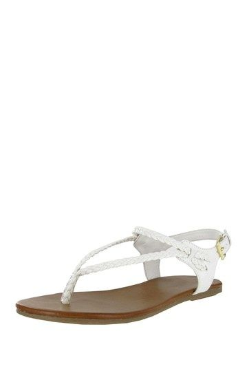 Cute sandals from this site. I may have to get these for the beach wedding