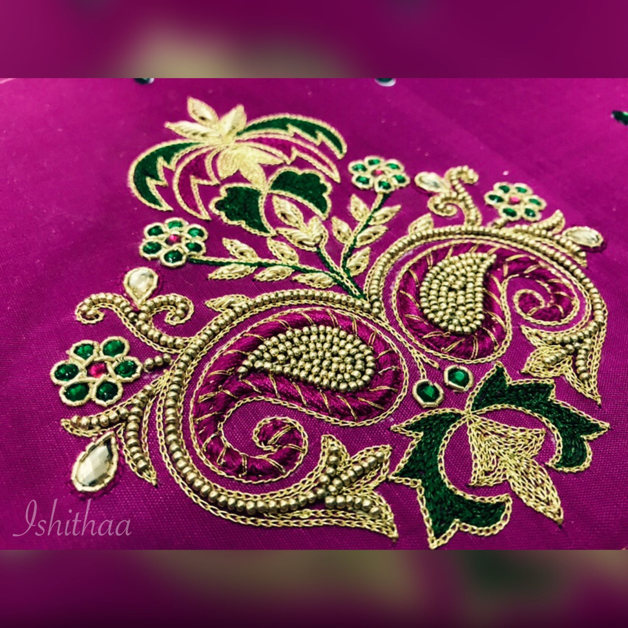 Pin by deepika reddy on ishithaa design house pinterest blouse embroidery art embroidery stitches embroidery designs blouse patterns blouse designs saree blouse work blouse goldwork hair accessories bankloansurffo Images