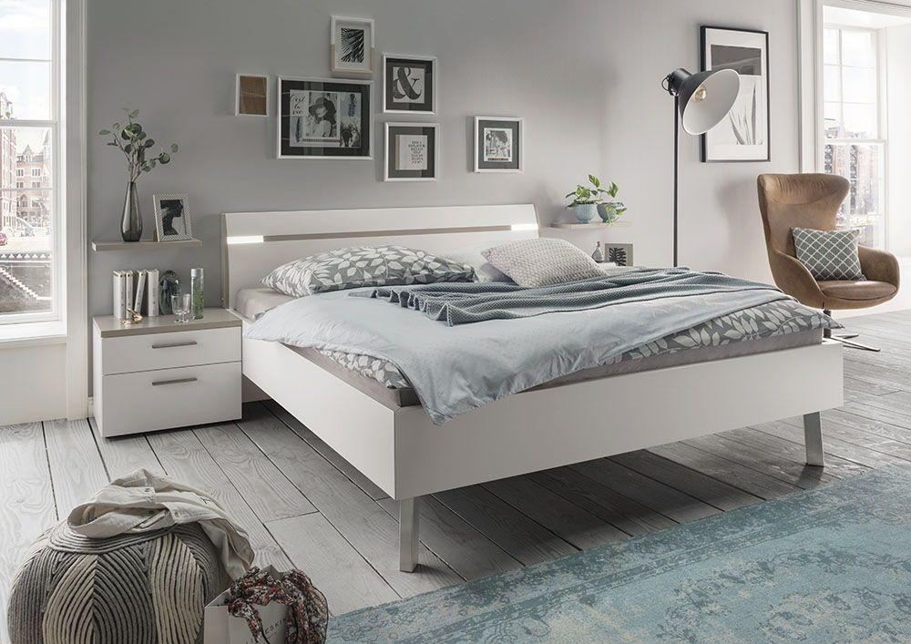 Schlafzimmer Inspiration In Grau Und Weiss Schlafzimmer