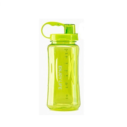 GTI 2L Large Capacity Outdoor Space Cup Plastic Sports Queen Wide Mouth Water Bottle Green >>> Visit the image link more details. Note:It is affiliate link to Amazon.