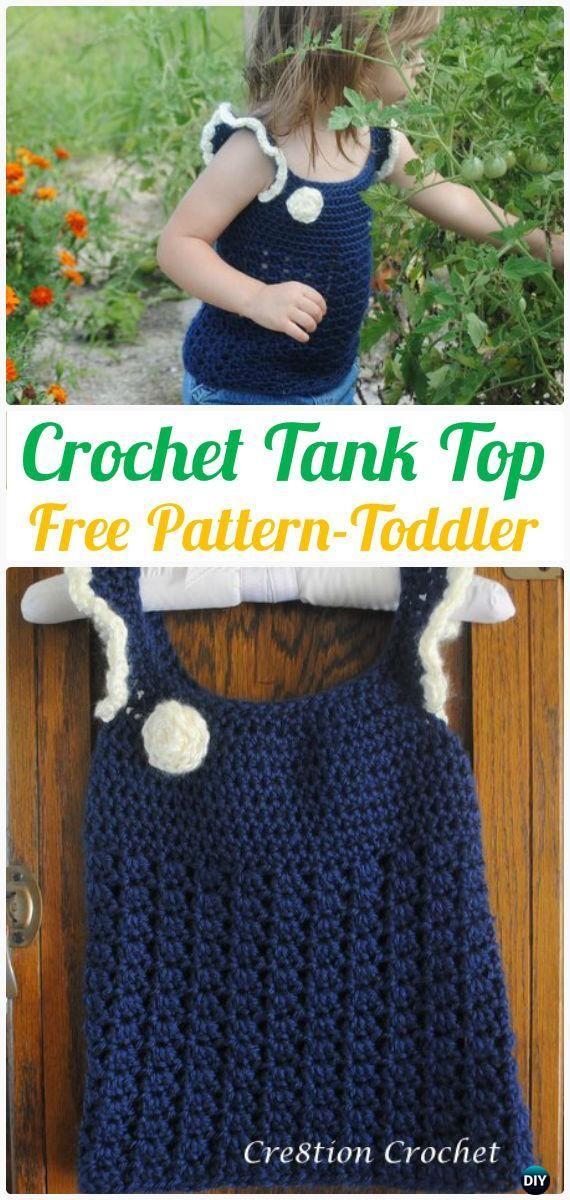 Crochet Kids Tank Top Free Pattern Toddler Size Crochet Kid Baby