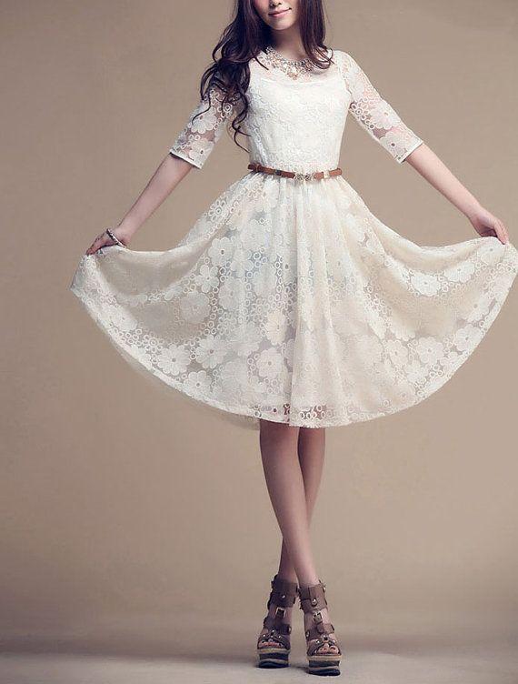 Womens Elegant Lace Dress Long Skirt Summer Plus Size Maxi ...