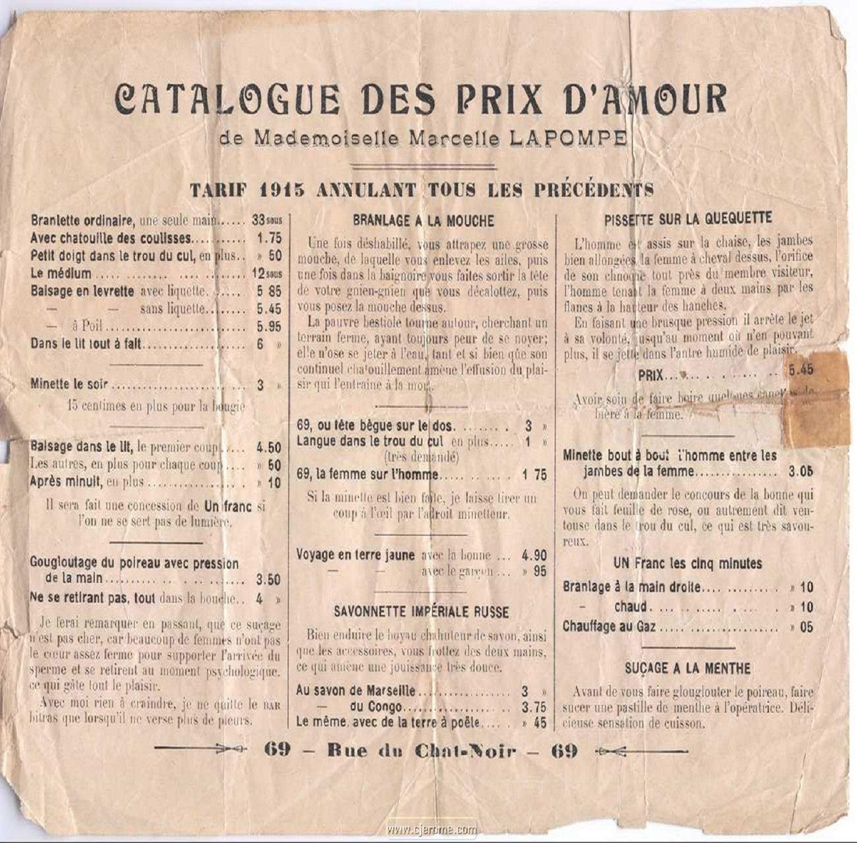 Catalogue des prix d 39 amour de mademoiselle marcelle la - Mademoiselle marcelle ...