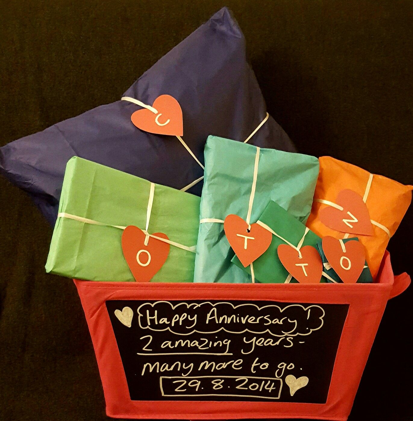 2nd anniversary gift for hubby using cotton as an acronym Contents Cotton personalised cushon