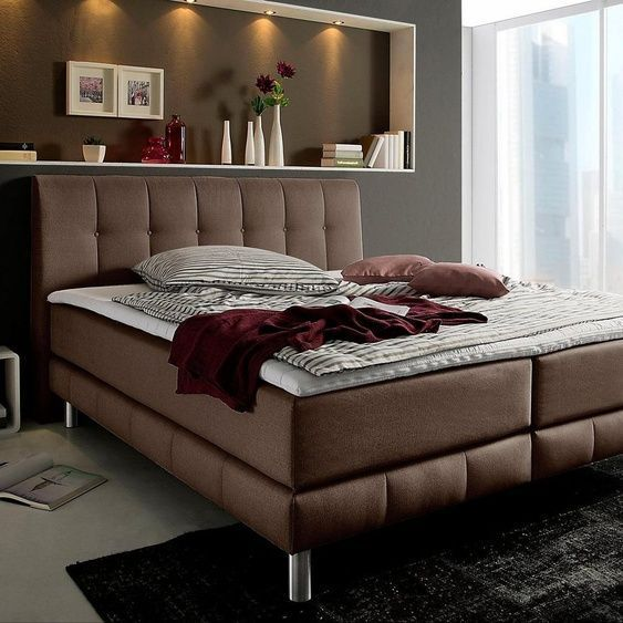 Places of Style Boxspring bed »Kalmarincl. Top 5 widths 3 mattress sizes ...#bed #boxspring #incl #kalmar#mattress #places #sizes #style #top #widths