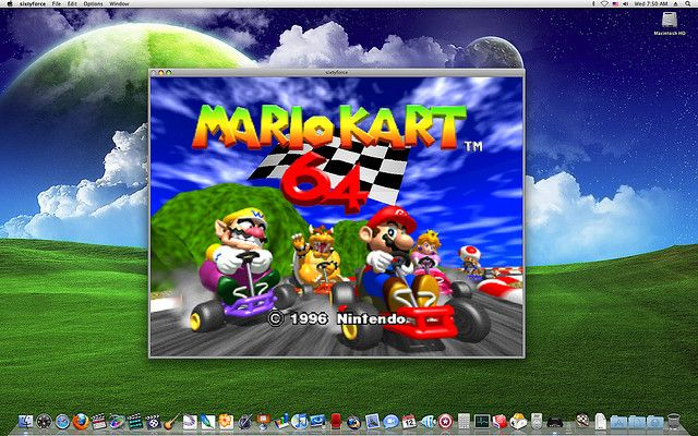 Okay, for all you Retro Hounds, here's Mario Kart 64 on your