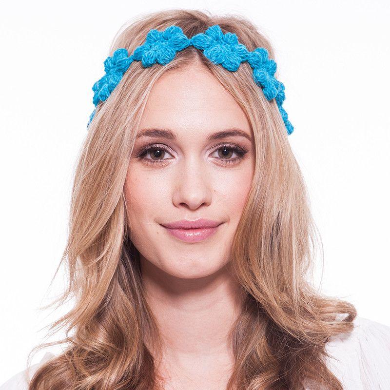THE MALIBU - floral hand crochet headband. Made in America. Boston, MA