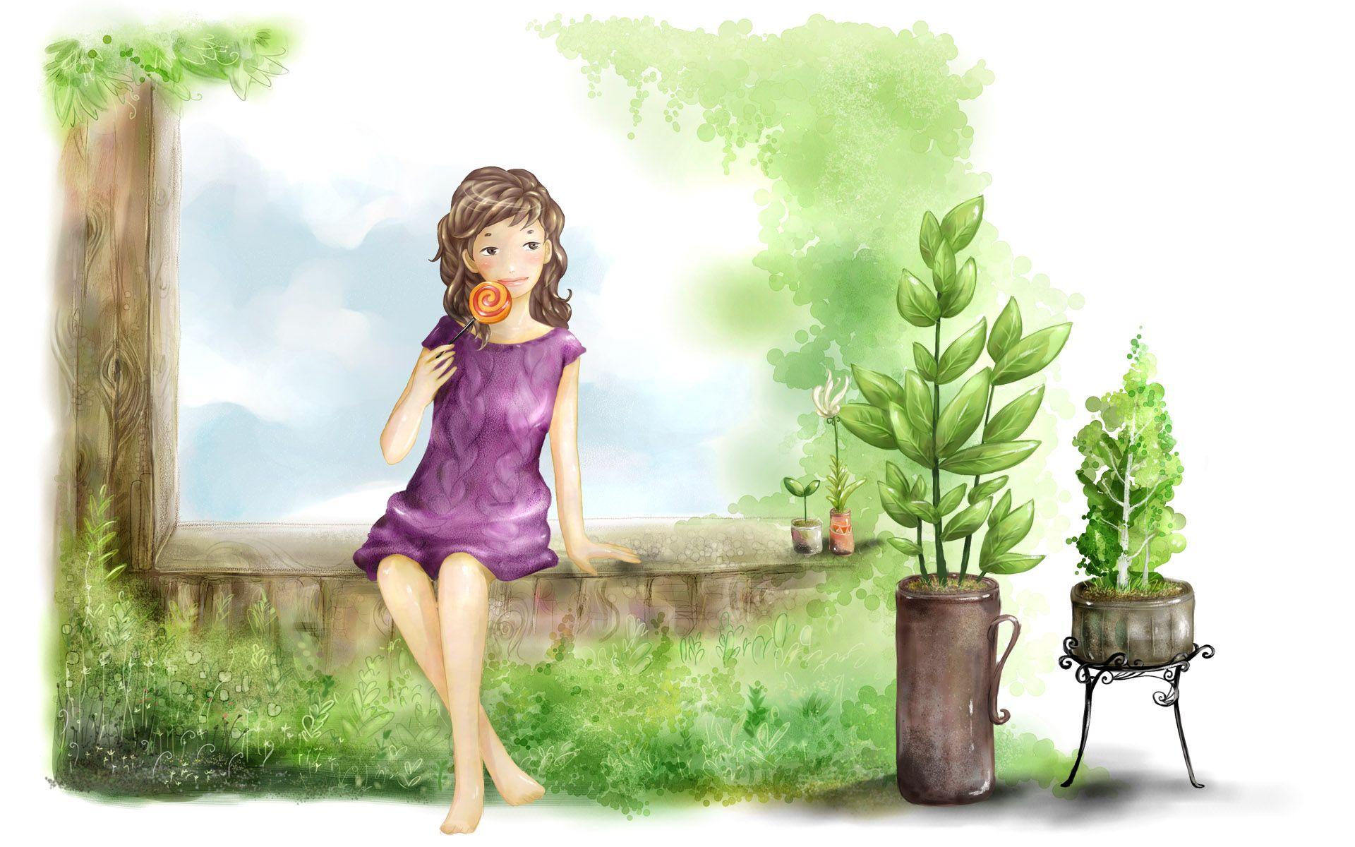 d Fantasy Girl Wallpaper Cute Animated Girls Wallpapers