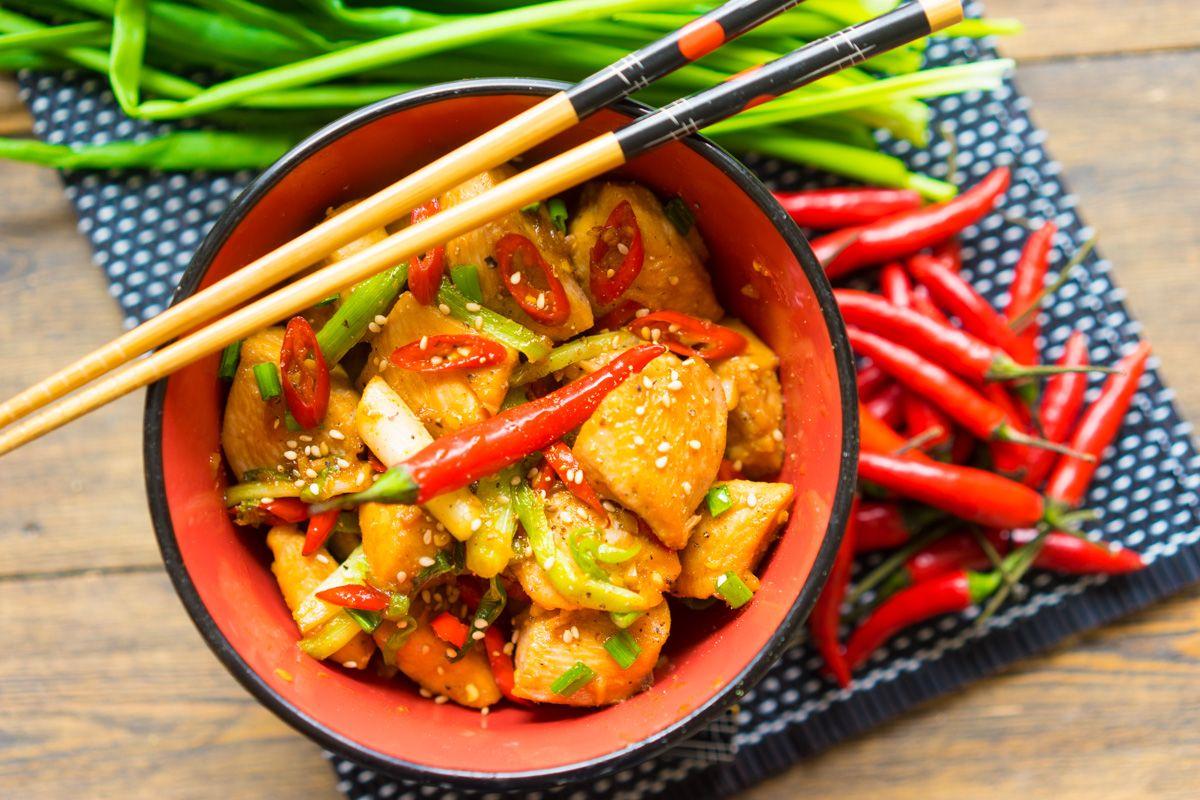 Как приготовить курицу гунбао (кунг пао), пошаговый рецепт ...