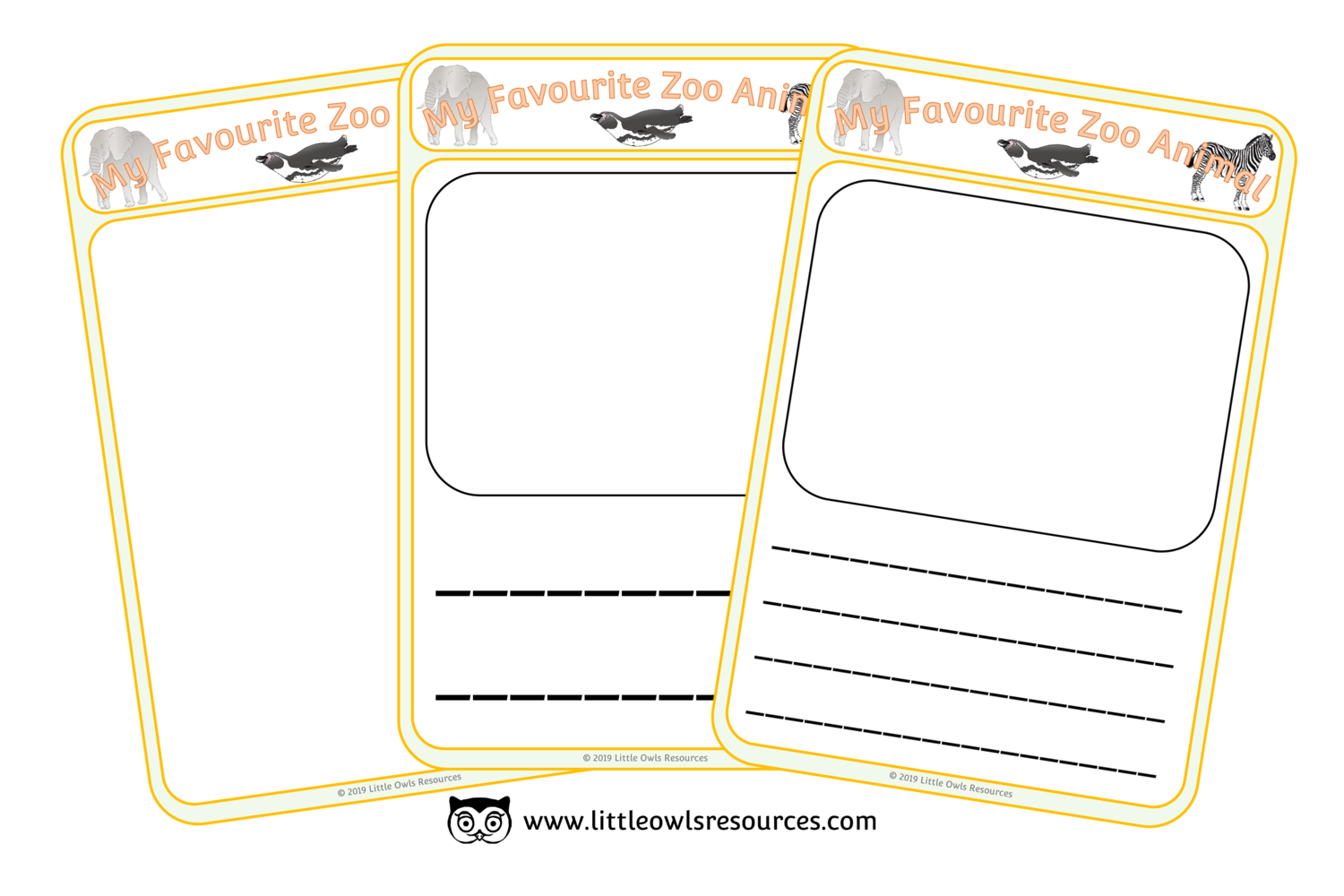Free My Favourite Zoo Animal Sheets Printable Early Years