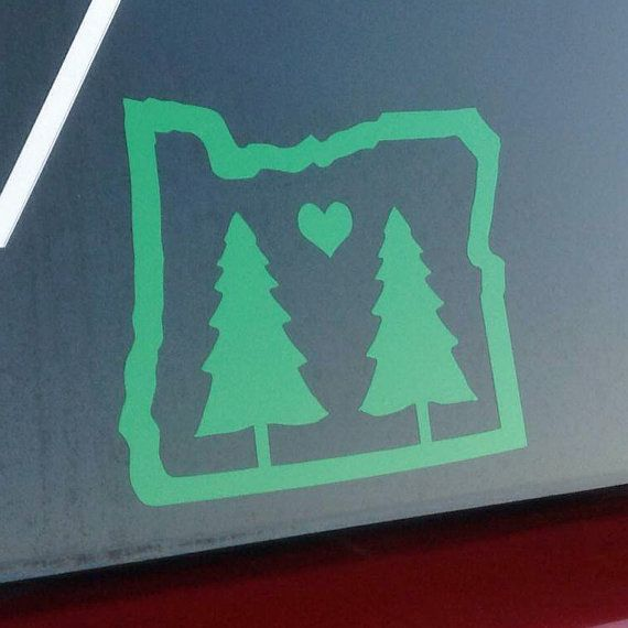 Oregon Trees Vinyl Decal Oregon Bumper Sticker Car Window