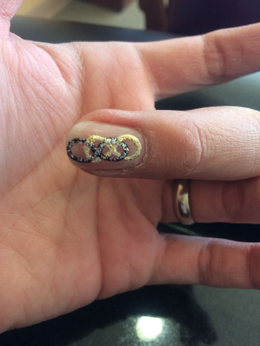Revenge Nail Art Double Infinity With Black White Silver And Gold