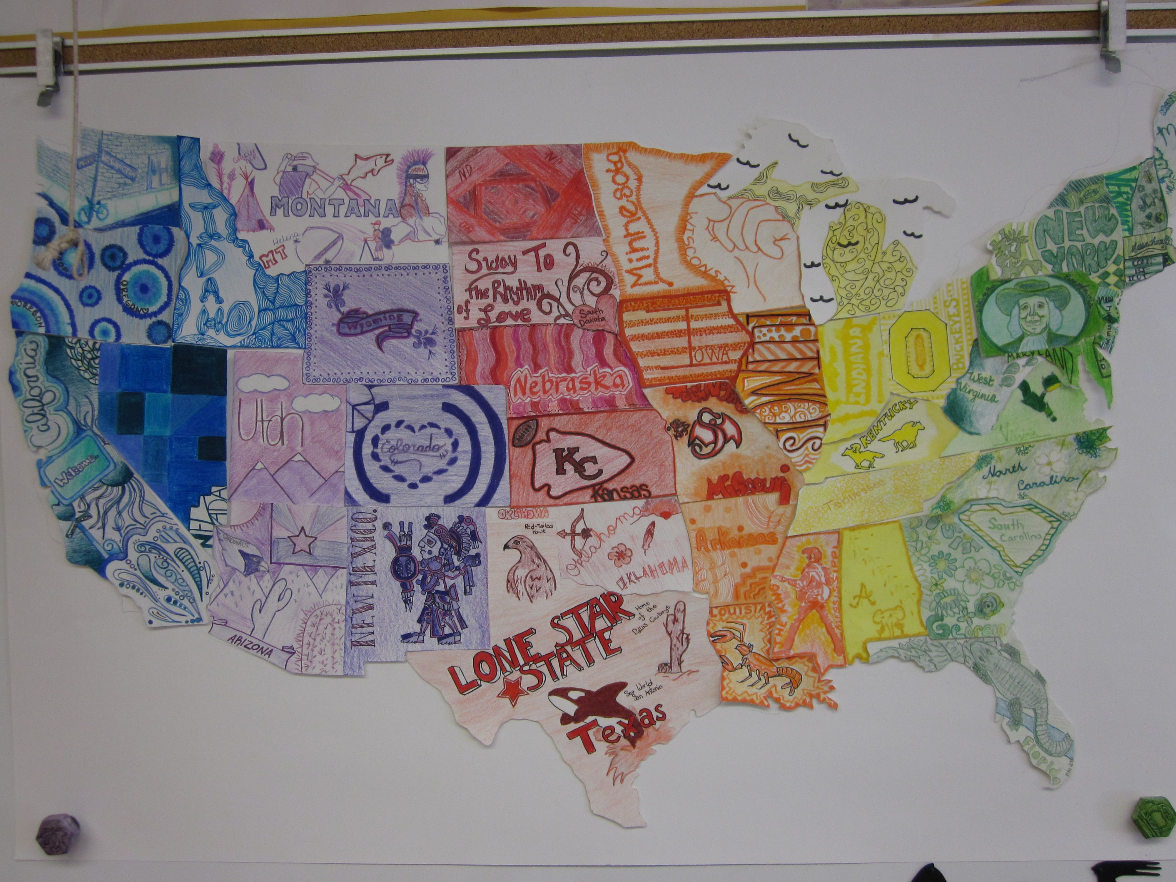 I Create A Large Poster Board Version Of A US Map And Then Cut Out - Large us map with states and capitals