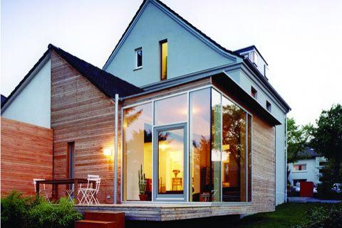 Modernisierung platz ist im kleinsten zechenhaus wintergarten anbau aus glas - Anbau oder wintergarten ...