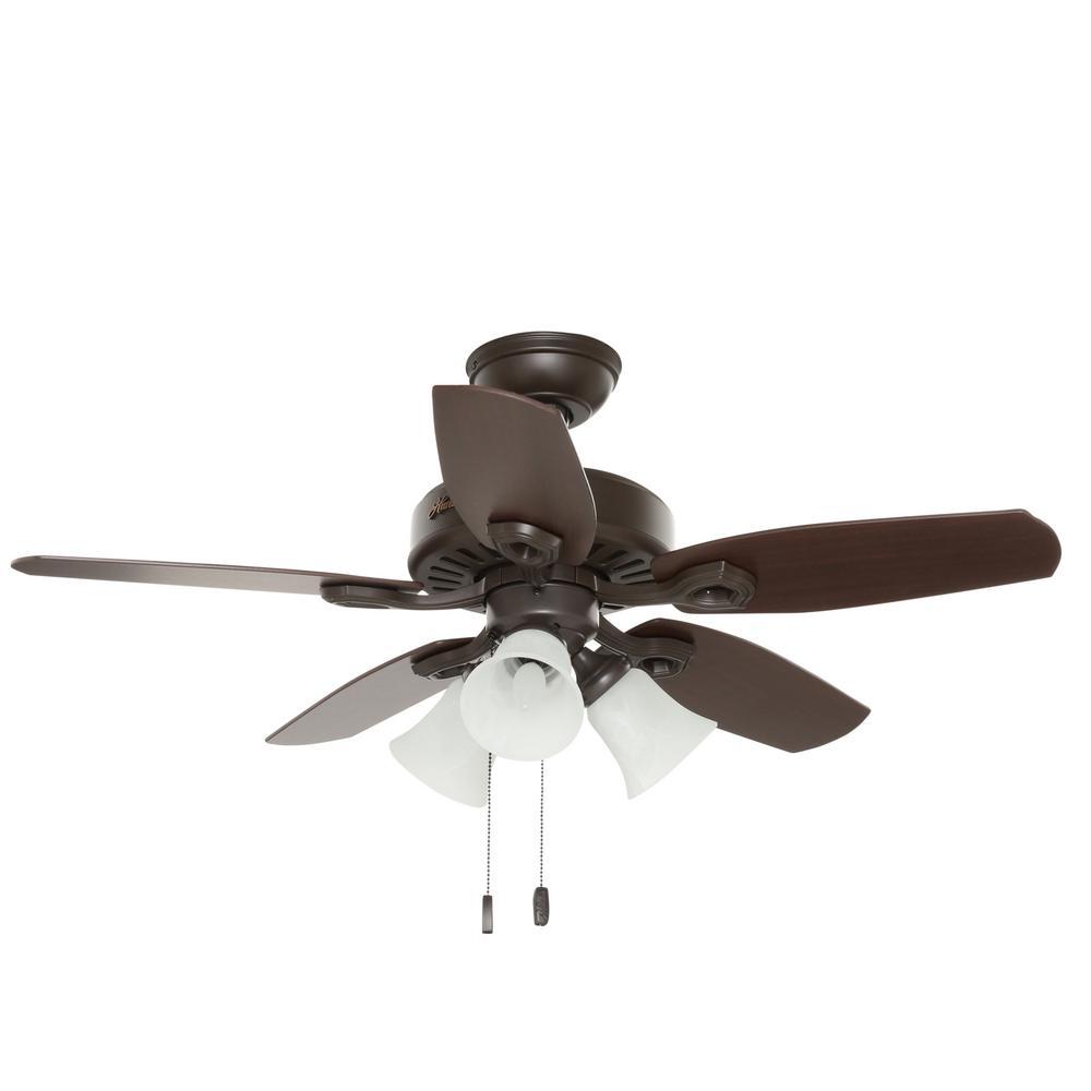 Hunter 42 In Indoor New Bronze Builder Small Room Ceiling Fan