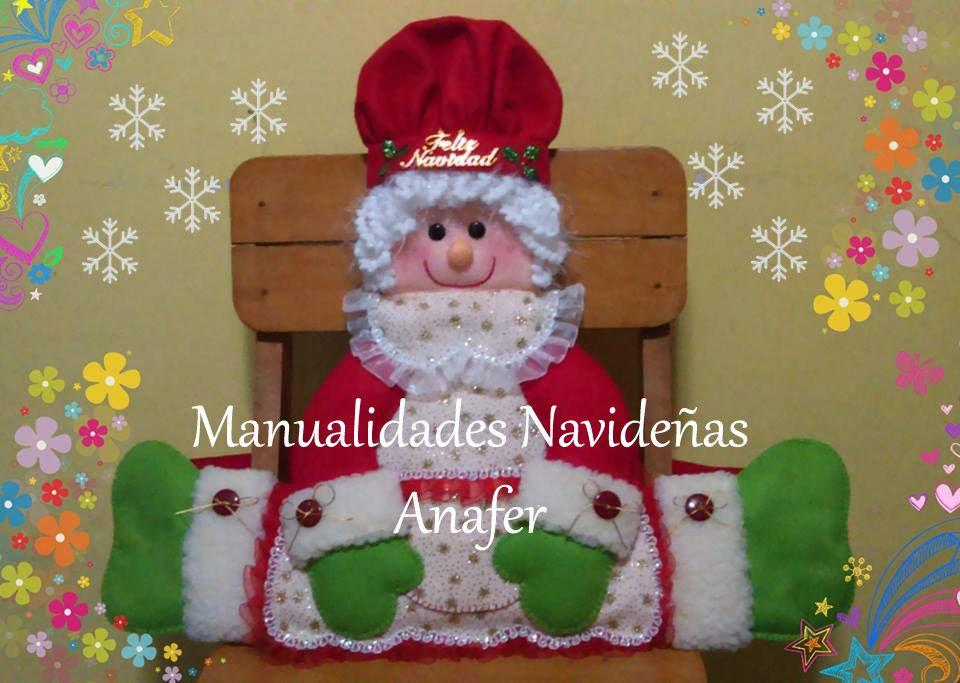 Pin de manualidades anafer en cubresillas 2016 for Manualidades de navidad 2016