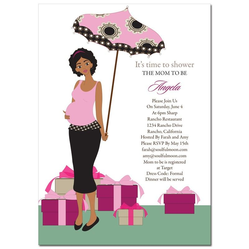 African American Baby Shower Invitations - Umbrella Mommy ...