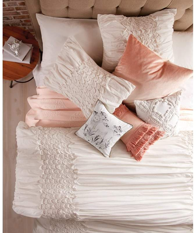 Ophelia Co Sanger Triangle Smocked Comforter Set Bed Linens Luxury Bedding Sets Bed