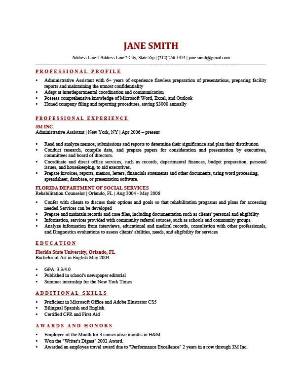 Resume Template Freeman Brick Red | diy | Pinterest