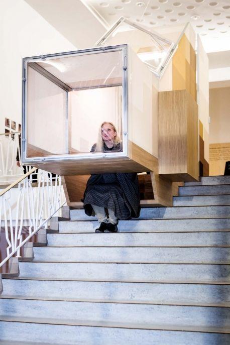 Aina meuble multifonctions par ted 39 a arquitectes contreplaqu plywood - Meuble multifonction ...