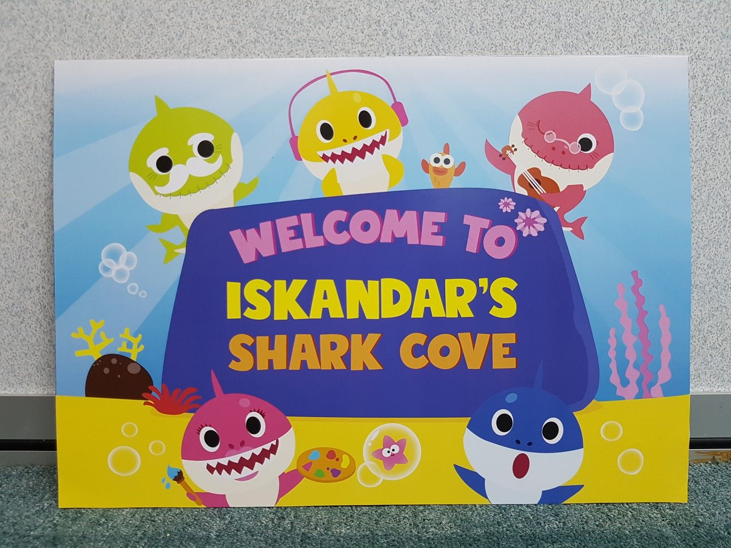 Baby Shark 10 Paper Plates 7in Birthday Party Supplies PINKFONG Babyshark