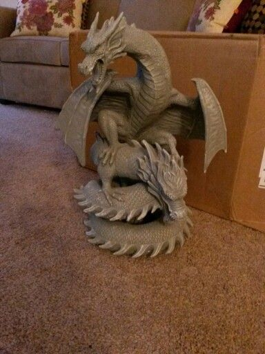 Dragon lawn ornament for our little apartment yard ...