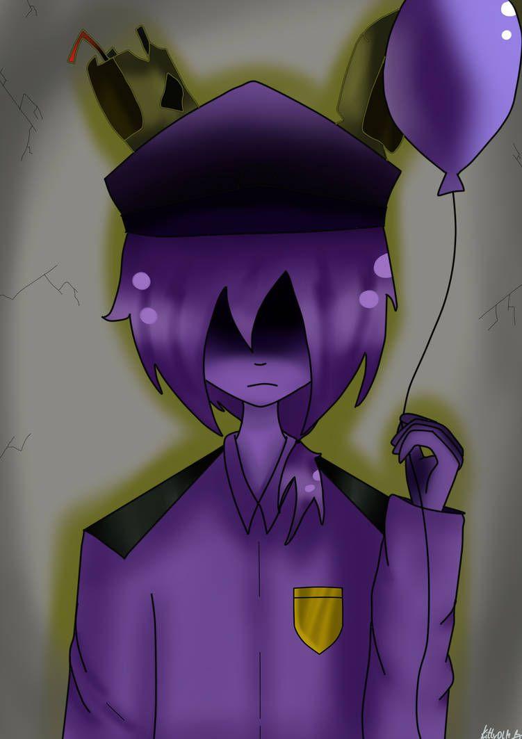 Purple Guy From Fnaf By Kittyolm Fnaf Drawings Anime Fnaf Purple Guy