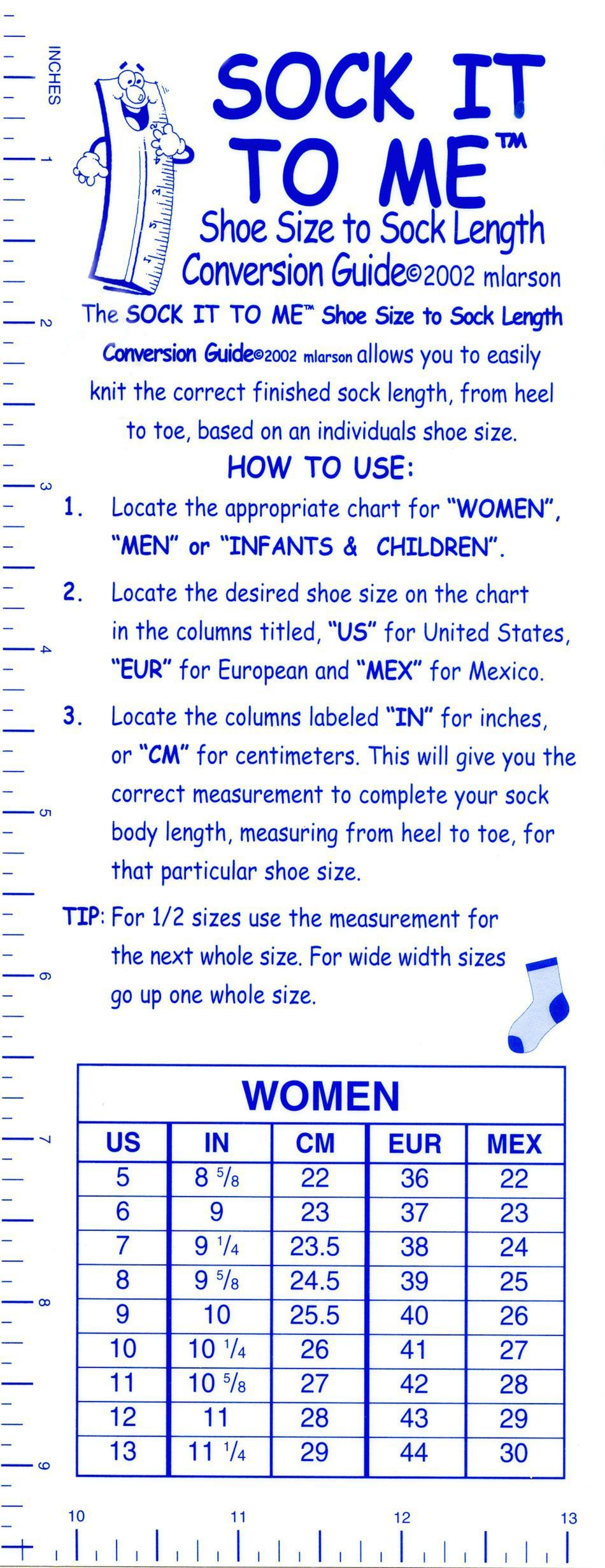 Inches to shoe size conversion with pictures ehow sewing inches to shoe size conversion with pictures ehow sewing pinterest shoe size conversion and chart geenschuldenfo Choice Image