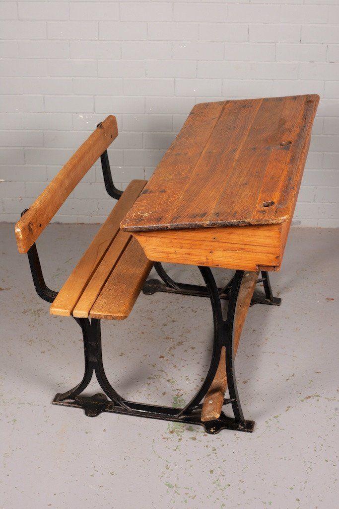 Antique Oak School Desk and Bench - Antique Oak School Desk And Bench Workshop Pinterest School