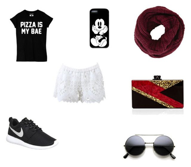 """""""Pizza loves me"""" by henruff on Polyvore featuring Alexis, NIKE, BCBGMAXAZRIA and Edie Parker"""