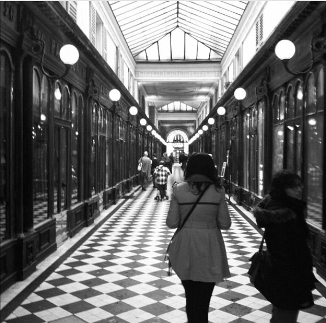 Paris, France. A shopping arcade. New Year.