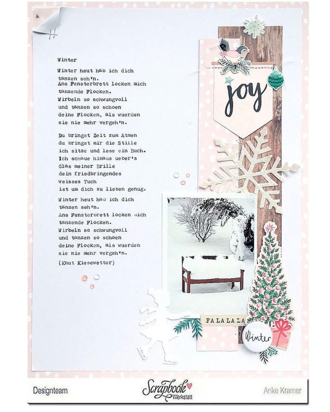 Time To Share Another Layout Made With The Scrapbookwerkstatt December Kit Pink For Winter Layouts Yes Zeit Fur Ein Weiteres L Scrapbook Layout Instagram