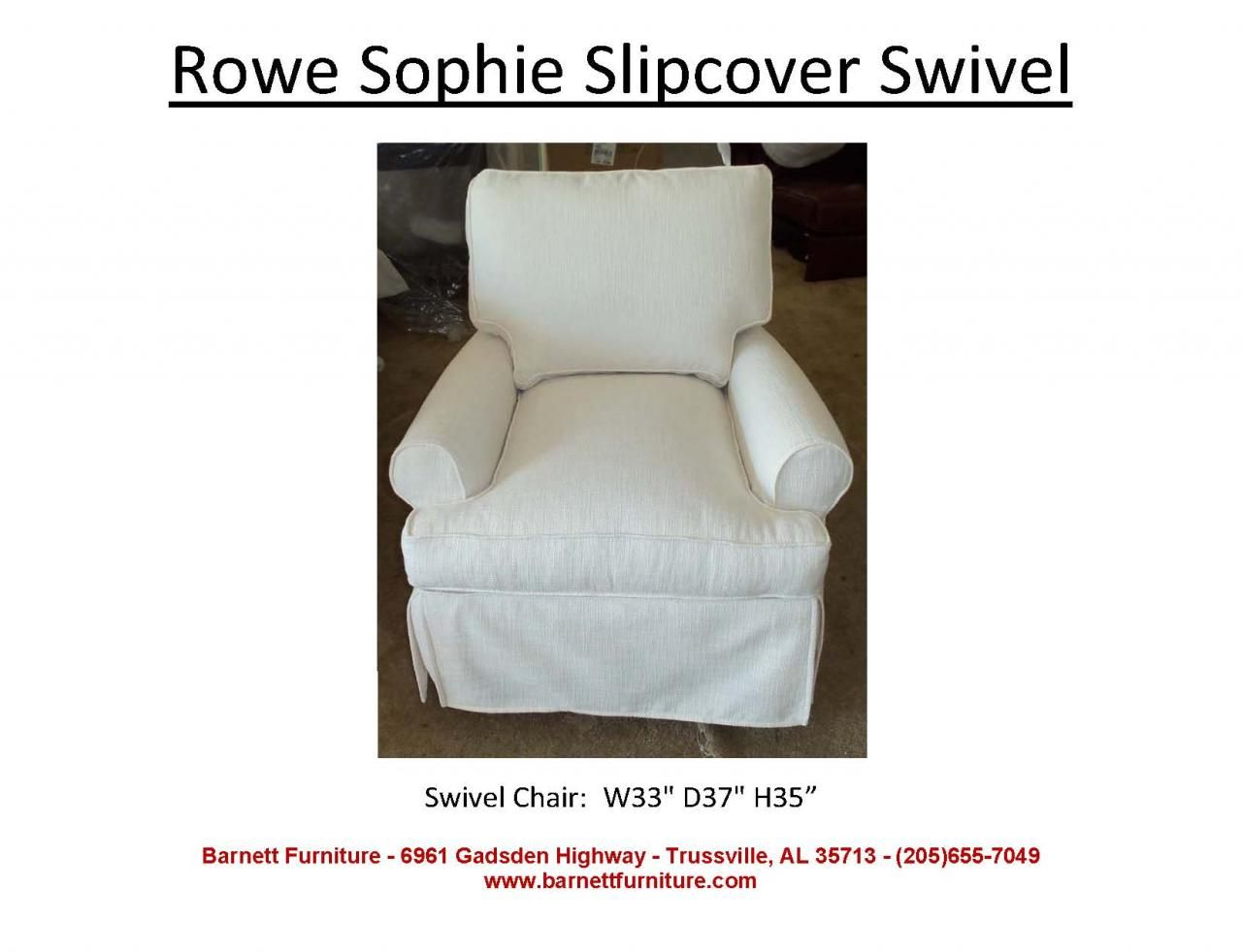 Rowe Sophie Slipcover Swivel Glider. You Choose the Fabric