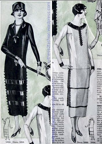 Button-trimmed dresses, Butterick patterns from March 1925 ...