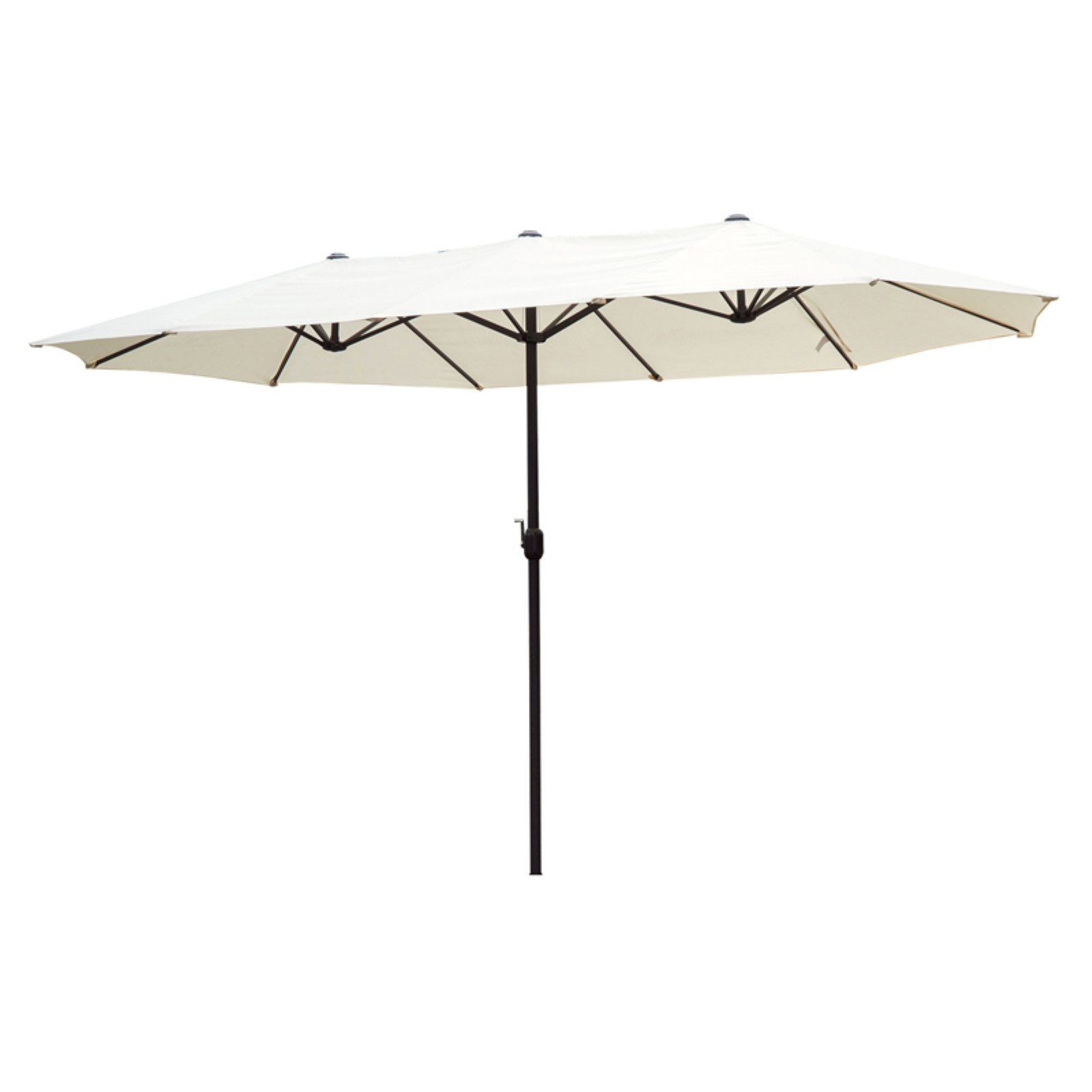 Outsunny 15 Ft Steel Double Sided Patio Umbrella Cream White Patio Umbrella Side Patio Patio
