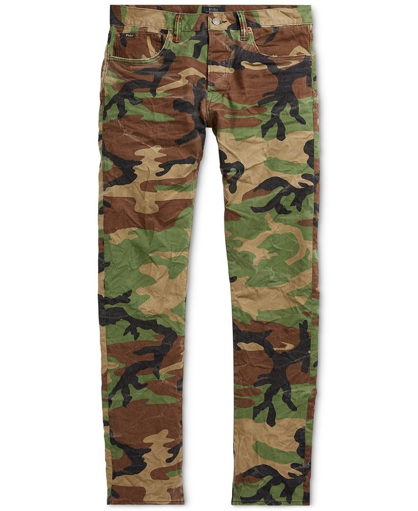 af15f4e2 Polo Ralph Lauren Men Slim Military Army Camo Pants Jeans #PoloRalphLauren  #MilitarySlim