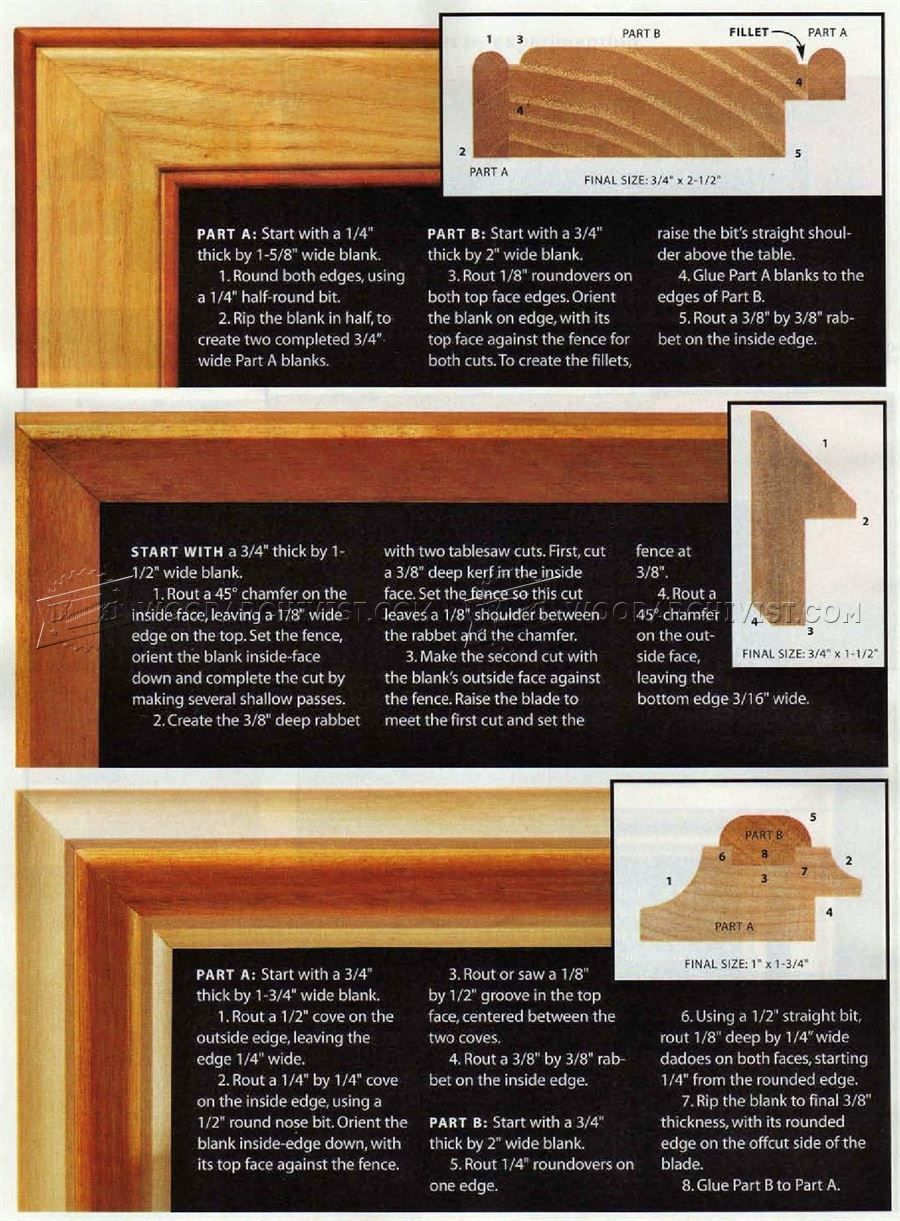 Router Made Picture Frame Plans - Woodworking Plans | router ...