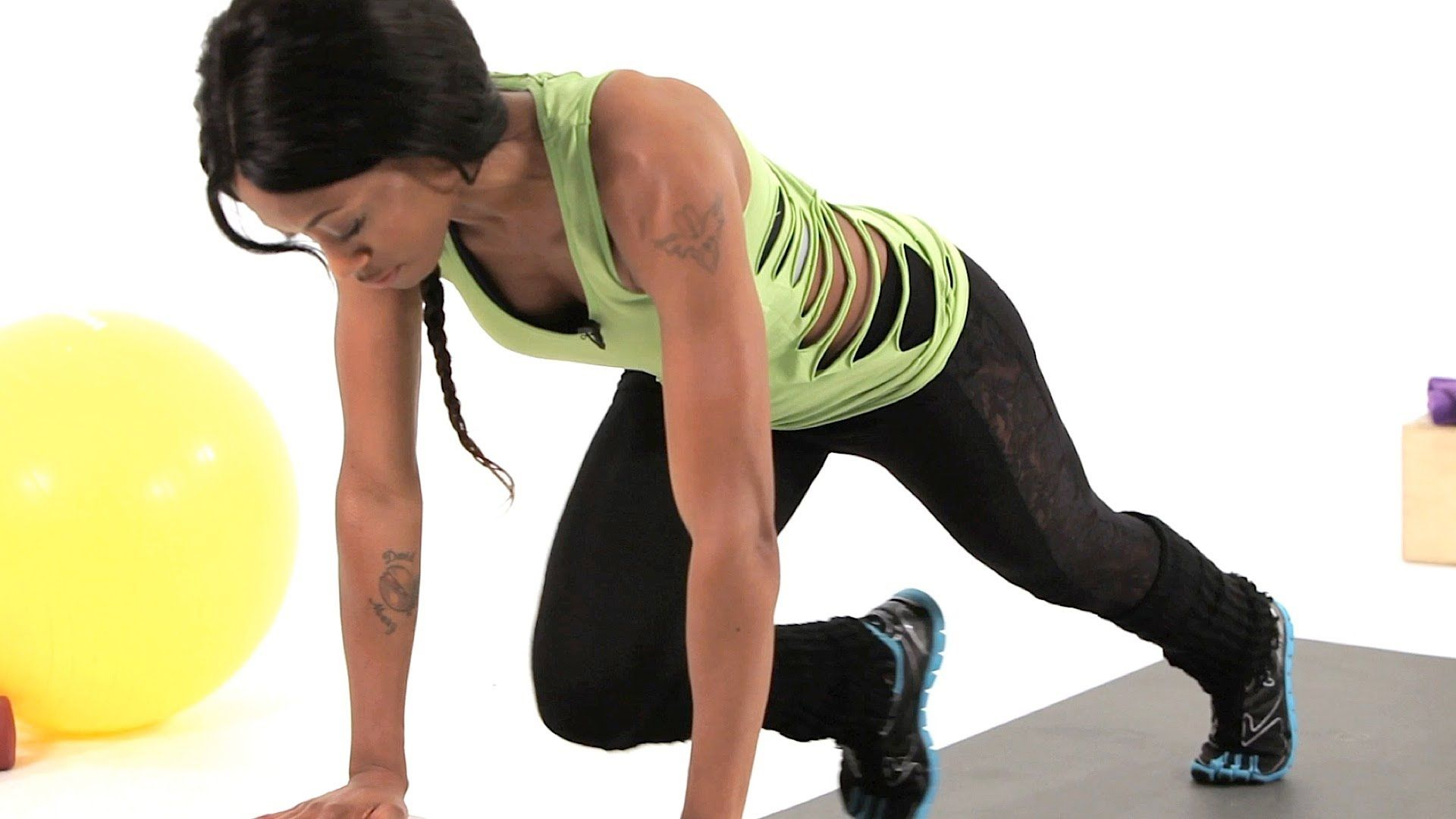 How to do a mountain climber plyometric exercises with