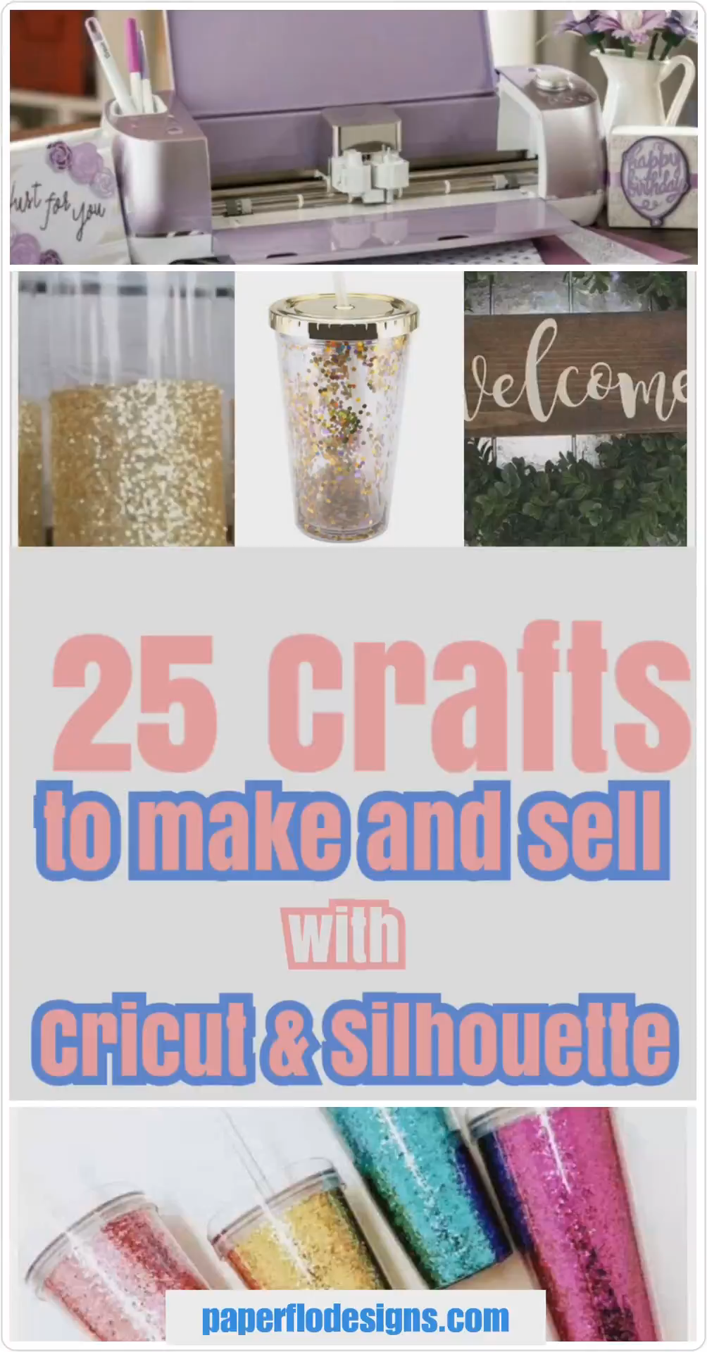 25 crafts to make and sell with Cricut and Silhouette