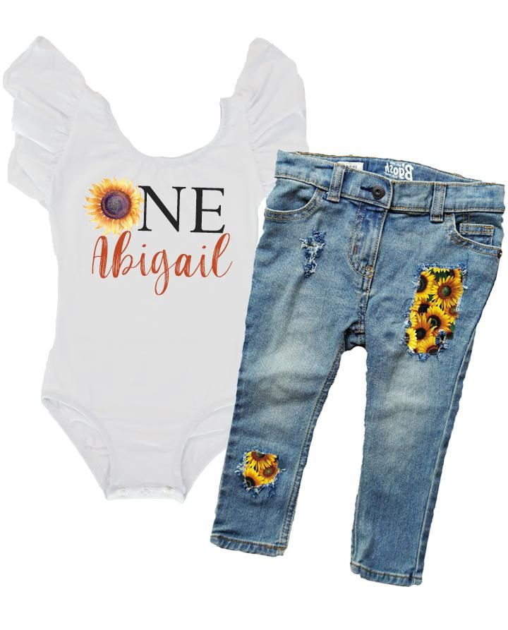 Sunflower First Birthday Outfit