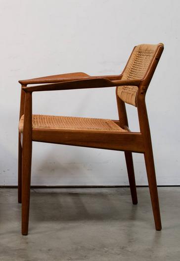 Arne Vodder Teak And Cane Armchair For Sibast 1950s Scandinavian Furniture Design Scandinavian Chairs Furniture Design Modern