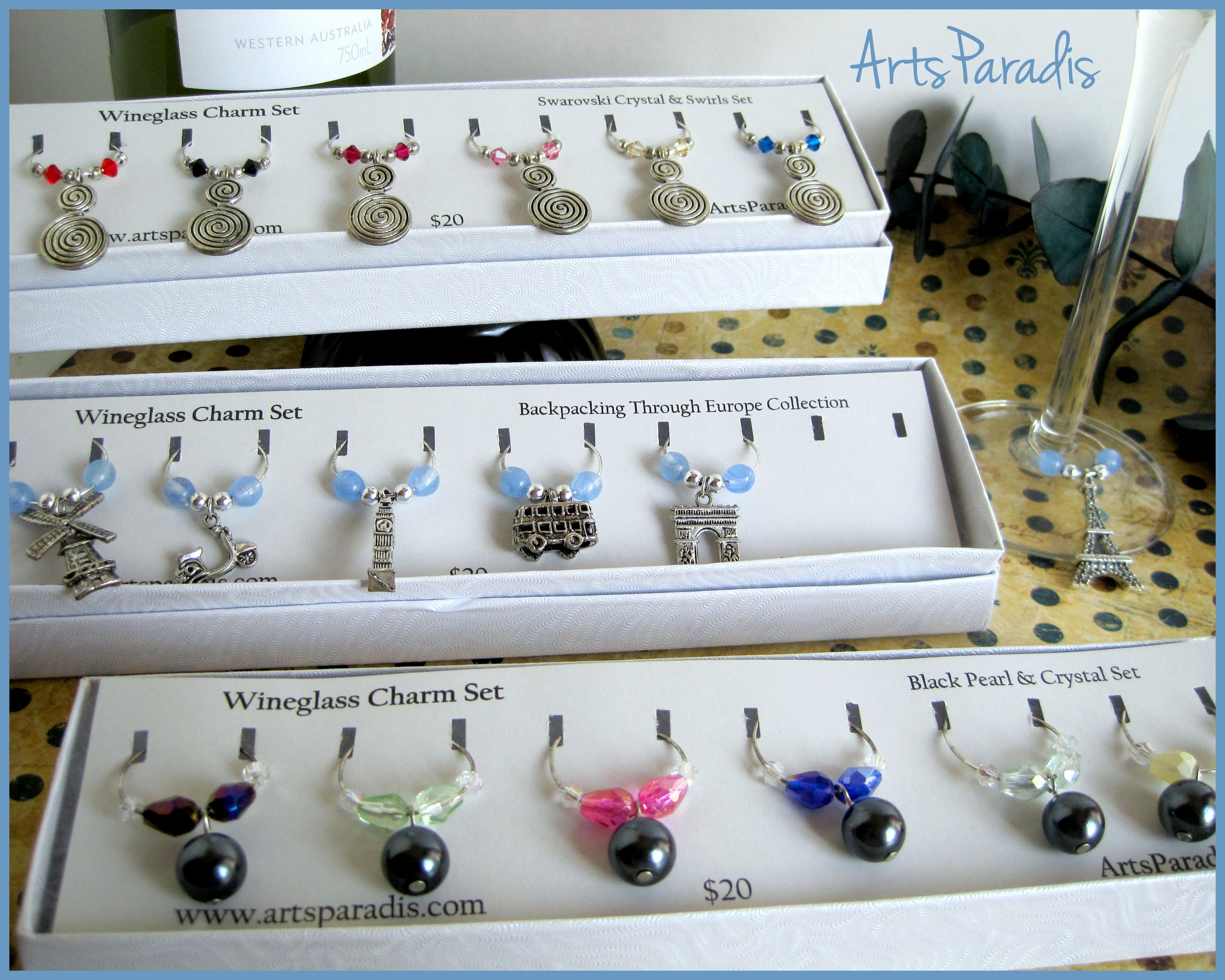 My #wine #glass #charms. https://www.etsy.com/shop/ArtsParadis?section_id=14497071