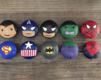 Customized Superhero dresser knobs #superherocrafts