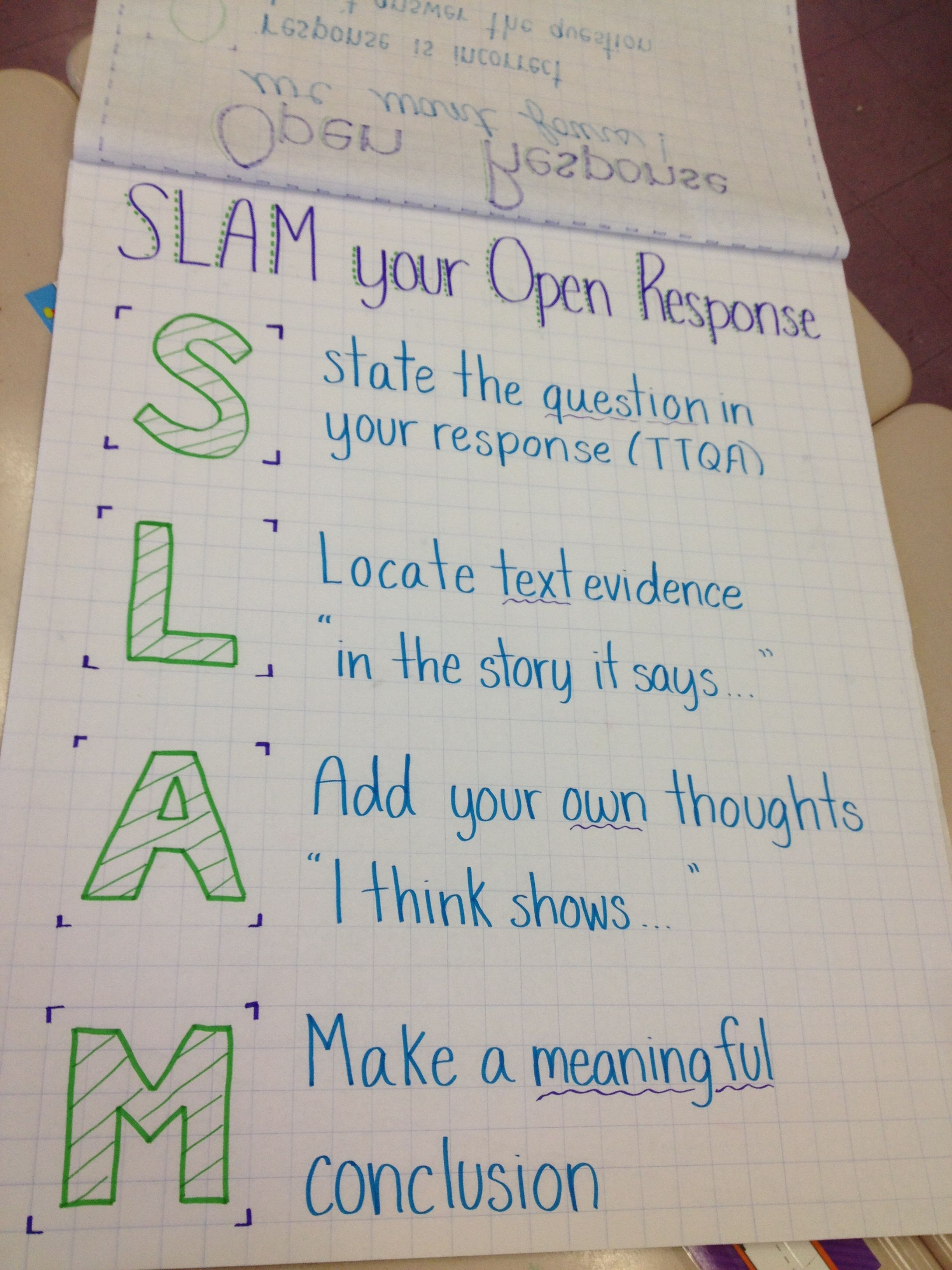 Slam Your Open Response